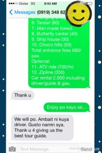 Bohol tour packages bohol touristas philippines 180