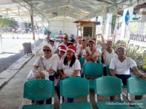 Miss laila white celebrated thier christmas party with us at the loboc floating resturant