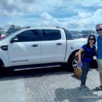 Vip guests arriving at the port of bohol with out ford ranger wildtrak
