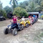 Another of our guest doing the atv ride at carmen bohol