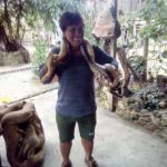 Smile with the pythons