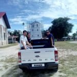 They want to ride at the back of our wildtrak taken at panglao church